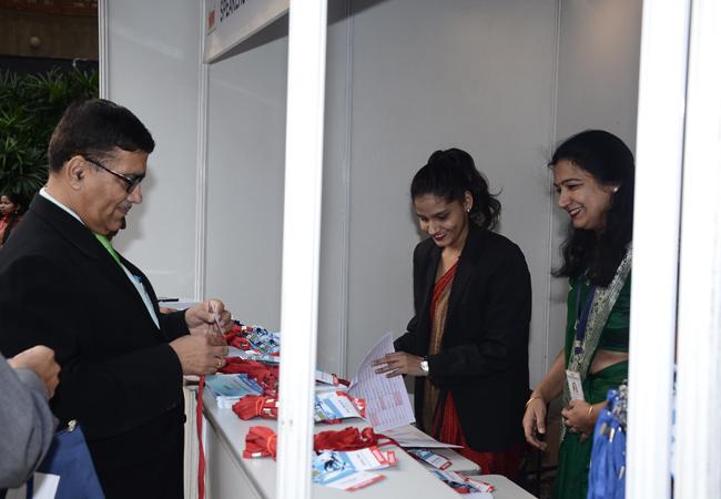 Delegates at Registration Counter