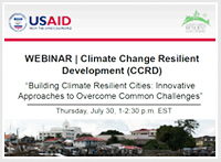Webinar on Building Climate Resilient Cities: Innovative Approaches to Overcome Common Challenges