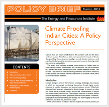 TERI releases policy briefs on Urban Climate Resilience