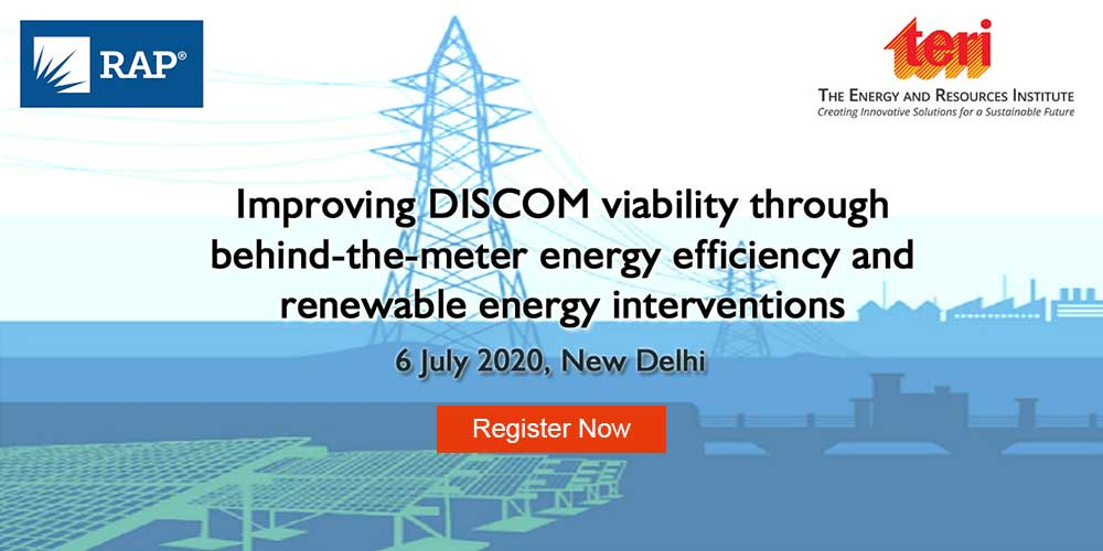Webinar on Improving DISCOM viability through behind-the-meter energy efficiency and renewable energy interventions