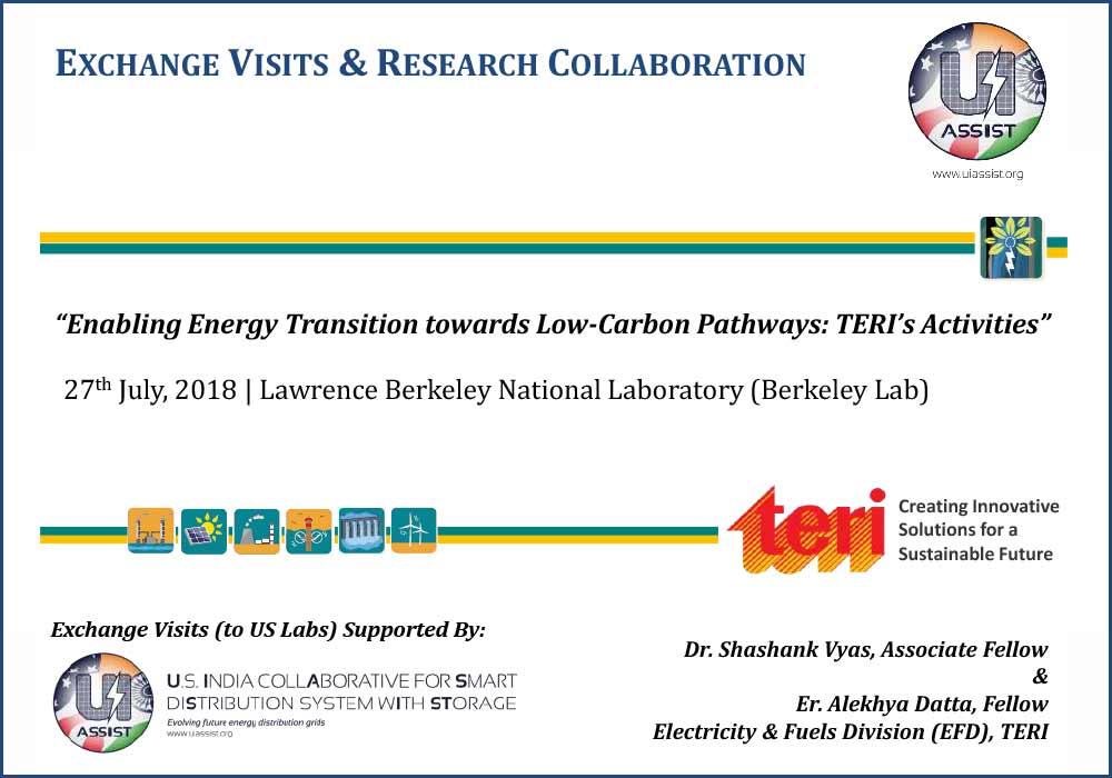 Enabling India's energy transition towards low-carbon pathways | TERI