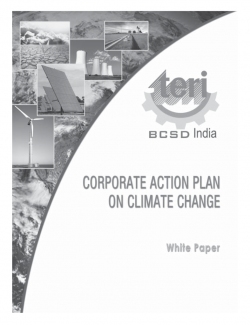 White paper on National Action Plan on Climate Change (NAPCC)