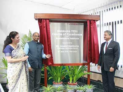 Mr. Anand Mahindra inaugurates the Mahindra-TERI Centre of Excellence (CoE) in Gurugram